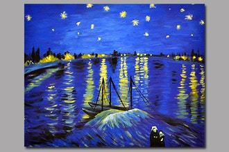 BYOB Painting: Starry Night Over the Rhone (Astoria)