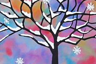 BYOB Painting: Snowy Tree