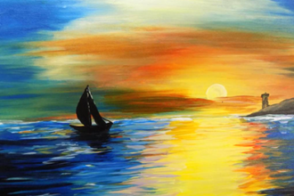 BYOB Painting: Sunset Boat Ride