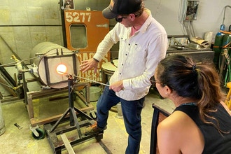 Glass Blowing by the Sea