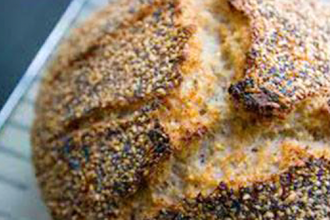 No Knead Sourdough Bread - with Sprouted Grains