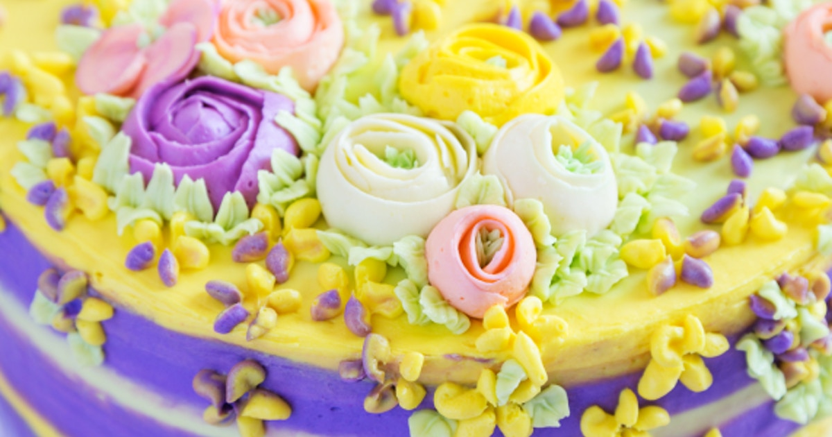 Buttercream Flowers, Coloring & Cake Composition - Cake ...
