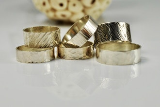 DIY Textured Sterling Silver Rings (Private)