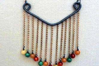 DIY Beaded Fancy Fringe Necklace