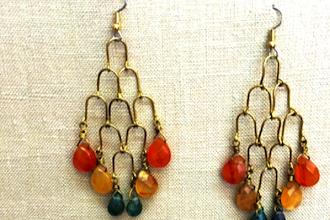 DIY Dangling Briolette Chandelier Earrings