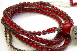 Leather & Bead Wrap Bracelet