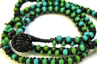 Bead & Rings Wrap Bracelet