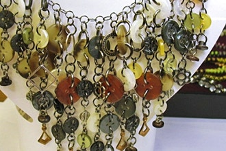 Third Friday Workshop - Buttoned Up Assemblage Necklace