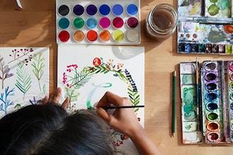 Floral Monogram Watercolor Workshop
