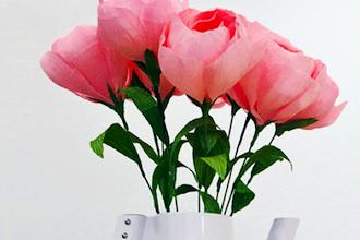 Lets make crepe paper flowers paper classes los angeles lets make crepe paper flowers mightylinksfo