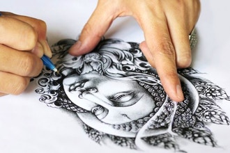 Drawing the Face of the Buddha