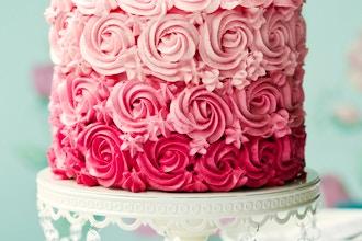 DIY Ombre Rosette Cake