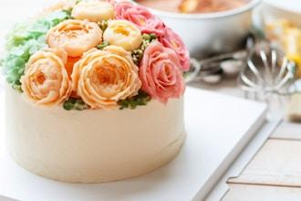 Floral Spring Buttercream Cake