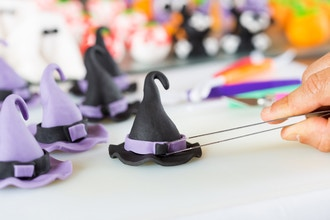 Witches Hat Carved Cake