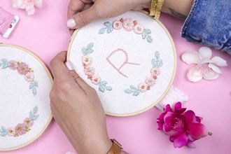 Floral Embroidery WebJam (with Starter Kit)