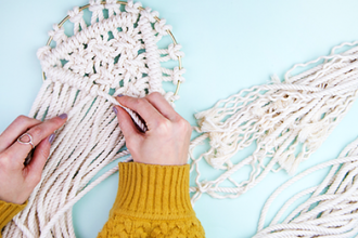 Make a chic macrame wall hanging crafts classes new york for Arts and crafts classes nyc