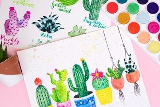 Succulents and Cacti Watercolor Workshop