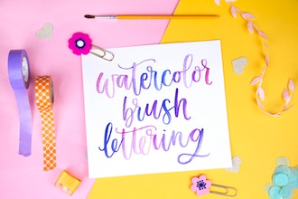 Watercolor Brush Lettering WebJam