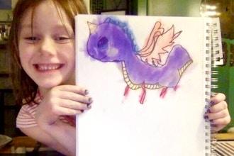 Kids: Beginner Cartooning & Doodling (Online)
