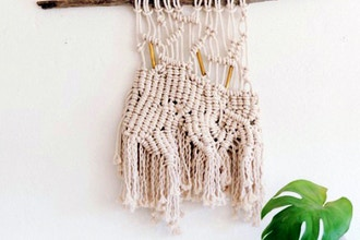 Weaving with Macrame Wall Hangings with Little Feral