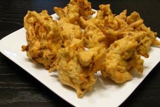 Pakora, Paratha, Saag Paneer, and Butter Chicken