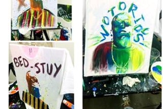 Paint and Sip: Big Poppa T-Shirt Painting