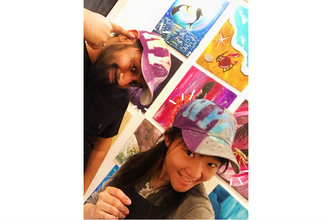 Paint and Sip: Craftholes - The Dad Hat Painting
