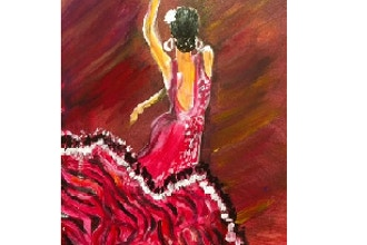Paint and Sip: Let's Go Flamenco