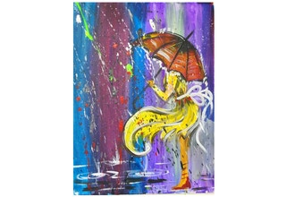 Paint and Sip: Singing in the Rain