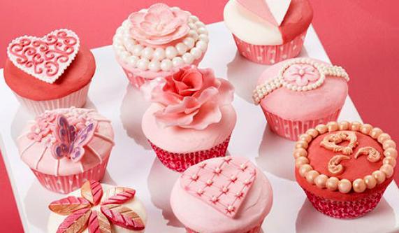 Valentine S Day Fondant Cupcakes Fondant Classes New York