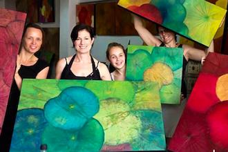 Lotus Leaf Painting Workshop