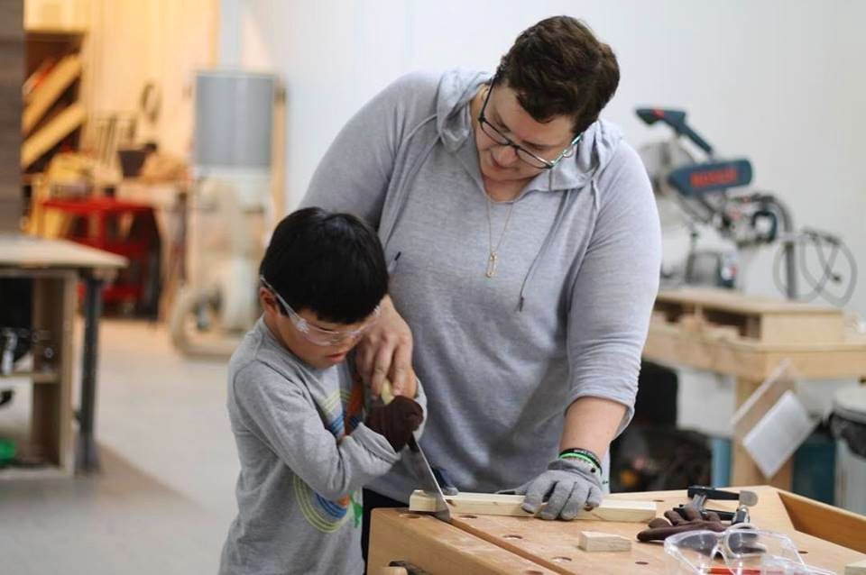 Kids Woodworking Step Stool Project Woodworking Classes New York