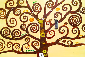 Paint and Sip: Klimt - Tree of Life - Painting Classes New York ...