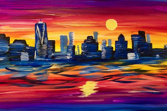 Paint and Sip: NYC Skyline