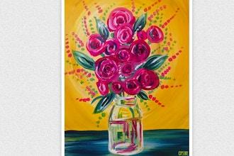 Paint and Sip: Mason Jar Roses
