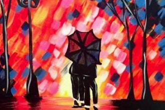 Paint and Sip: Romantic Rain Shower