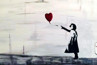 Paint and Sip: Banksy's Girl with Red Balloon