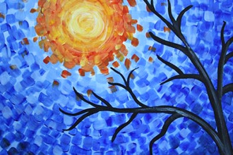 Paint and Sip: Fanciful Blue Tree