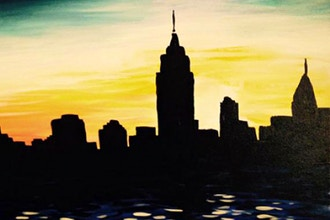 Paint and Sip: Manhattan Skyline