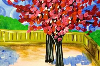 Paint and Sip: Peach Tree