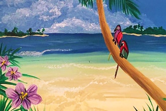Paint and Sip: Caribbean Getaway