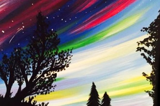 Paint and Sip: Aurora Borealis