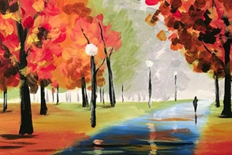 Paint and Sip: A Walk in the Park