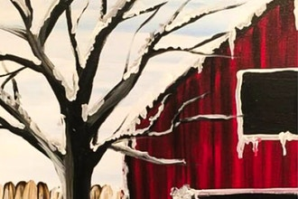 Paint and Sip: Snowy Barn