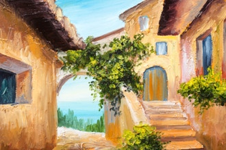 Paint and Sip: Vacation in Greece