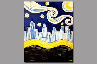 Paint and Sip: Starry Manhattan