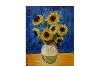 Virtual Paint and Sip: Van Gogh Sunflower