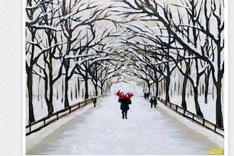 Paint and Sip: Central Park Winter Wonderland