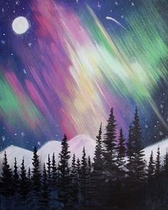 Painting Circle: Northern Lights