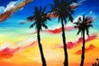 painting circle palm trees painting classes new york